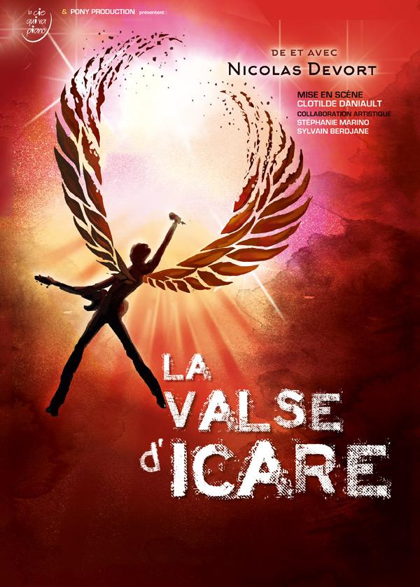 affiche théâtre La Valse d'Icare