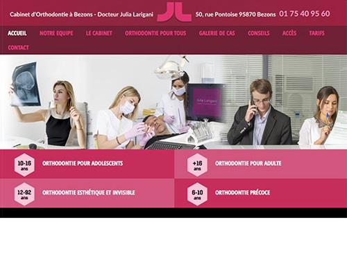 page d'accueil site web Julia Larigani