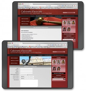 aperçu pages site web du cabinet d'avocats