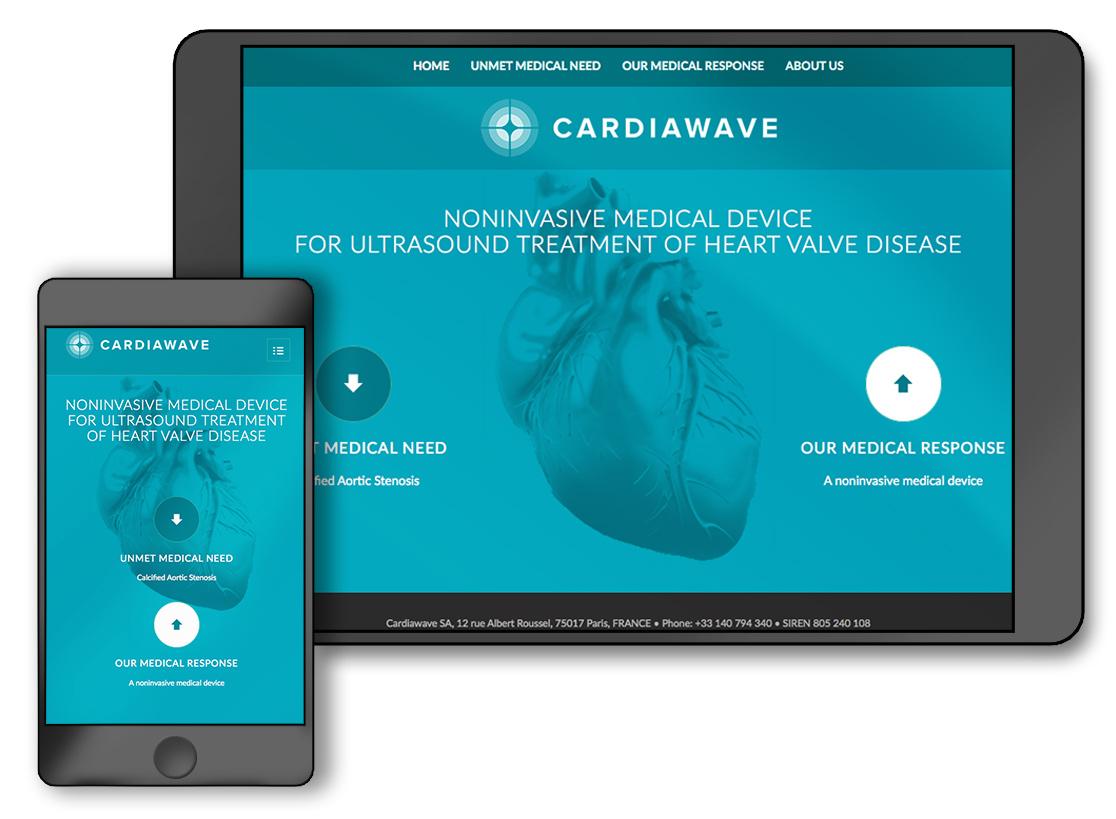site Cardiawave Simulations écrans
