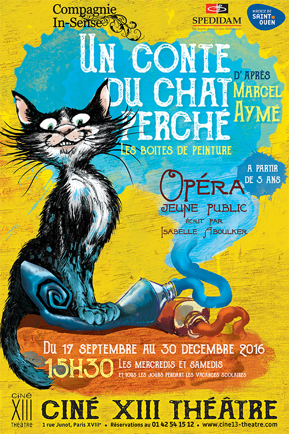 affiche du spectacle Un conte du Chat Perché - Cie In-Sense