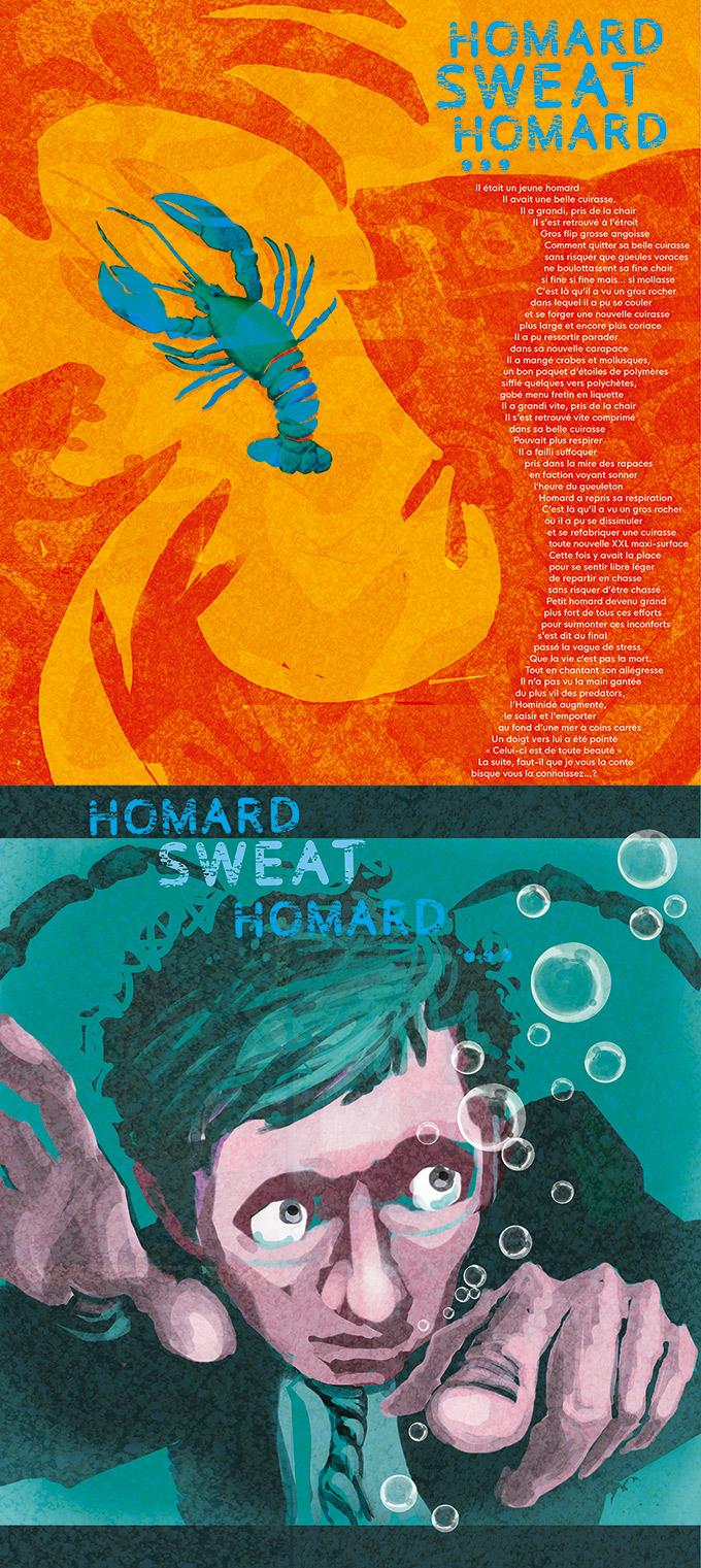 texte illustré Homard Sweat Homard