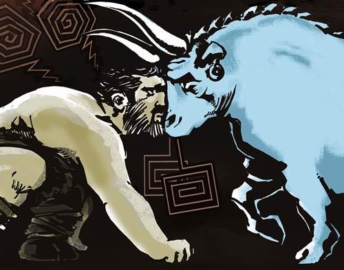 texte illustré Le treizième travail d'Hercule